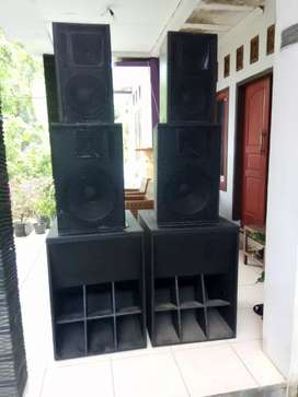 speaker subwoofer 18 monitor 15 10 paket 5000 watt second