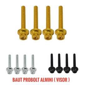 Baut visor nmax aerox xmax ready hitam silver gold barang baru