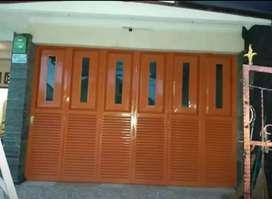 pintu lipat garasi/toko/ruko rangka hollow galvanis anti karat