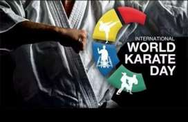 Karate training for all-age candidates and self defence for girls