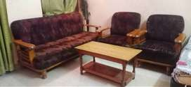 5 Seater ( 3+1+1) Sofa Set with Table