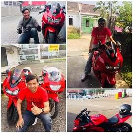 Kawasaki Ninja 250 Red bsa tt