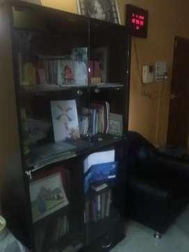 Bookshelf with Glass Casings