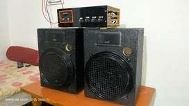Advantech company amplifier and advantech 10 inch spekar and box