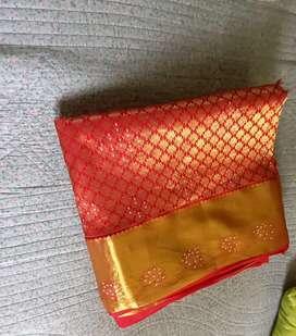 Pattu saree one time used