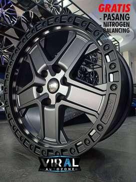 velg offroad terbaru ring 20 velg lobang 6 cocok untuk mobil pajero