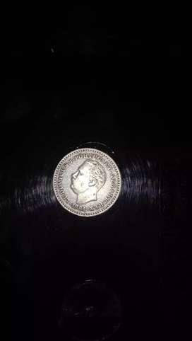 Ancient coin, 1881,LUDOVICUS-I-PORTUG:ET-ALGARB:REX