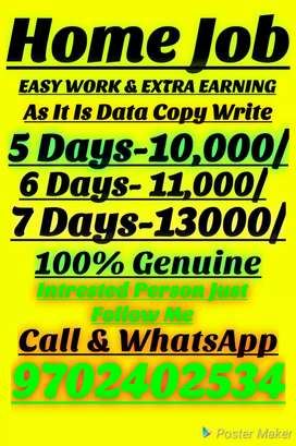 Work at home good salary