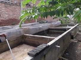 Dijual tanah ukuran 10 x 28 m bersama kolam ikannya