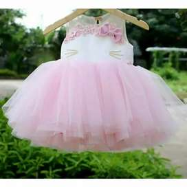 Dress Pesta Anak Hello Kitty 1-2th