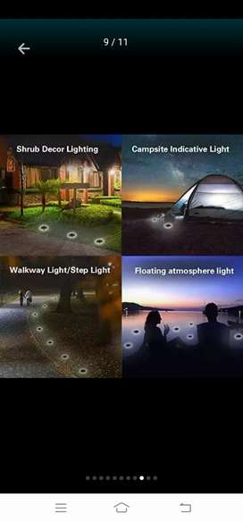 SOLAR GROUND LIGHTS 8 LEDS