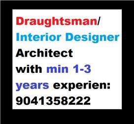 """Interior Designer Architect"" with minimum 1 or 3 years experience pre"