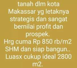 Dijual tanah SHM 2.800m² Antang Raya Cocok Bangun Perumahan