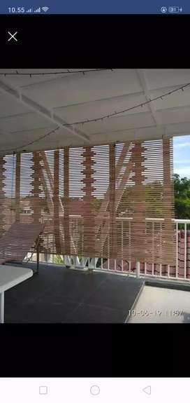 Tirai isi bambu,kulit bambu