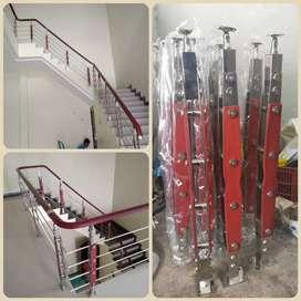 Railing tangga kaca minimalis stainless