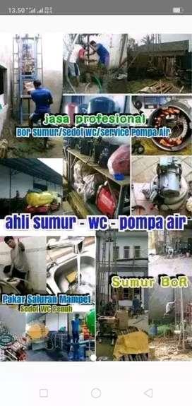Jasa Sumur bor service pompa WC Tumpat sedot WC