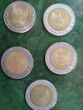 Uang koin kuno kelapa sawit 5 pcs 3 jt nego