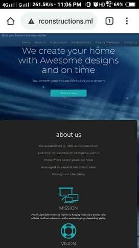 I do free web design and development