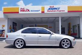 BMW E39 520i 2002 silver, velg 19 work ,modif simple