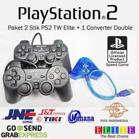 Paket Stik Gamepad PS2 with Converter