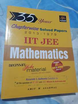 Arihant's Mathematics 35 years chapterwise solved papers
