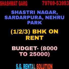 2 BHK Highly Modern  & Semi Furnished Prime Location Shastri Nagar