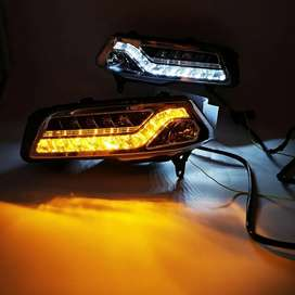 Volkswagen Polo ameo led fog lamps with DRL and Matrix indicators