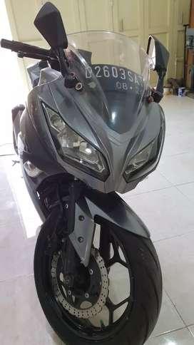 Jual Ninja 250 Abu 2014 pajak panjang mantap!
