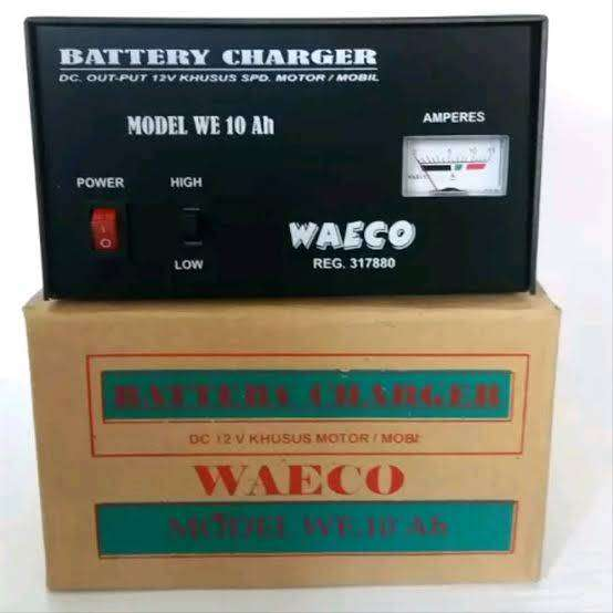 BATERAI CHARGER WAECO WE 10 AH (CHARGER AKI / CAS AKI) 0
