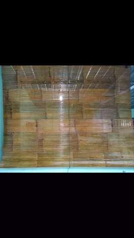 Tirai Rotan,Tirai bambu isi,Tirai kayu motif,Tikar Rotan lampid