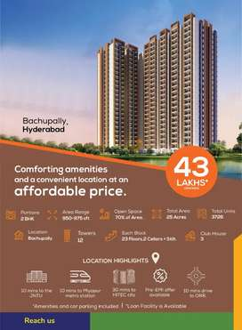 HMDA and RERA Approved pre launching flats for sale in Bachupally