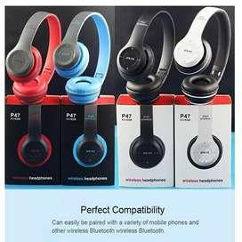 P47 Headphone Wireless Portable Bluetooth Headset Bass