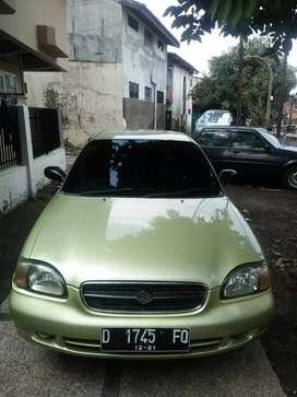 Dijual suzuki baleno 2001 tinggal gasss manual di taman sari Bandung