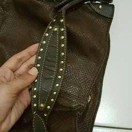 Tas shoulderbag/totebag merek Double M. Milano ori/asli/authentc mulus