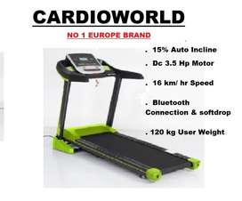 AUTO INCLINE TREADMILL WITH DC 3.5 HP MOTOR