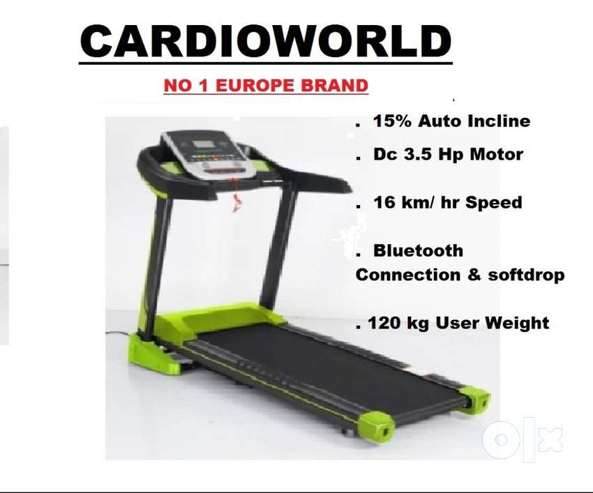 AUTO INCLINE TREADMILL WITH DC 3.5 HP MOTOR 0