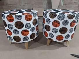 Upholestered pair of stools