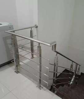 Railing tangga stainless dan balkon #4998