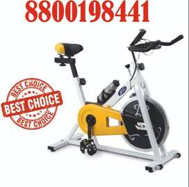 Spin bike Treadmill cross trainer on rent gym bench