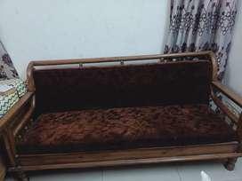 Sofa set 5sitter teak wood+centre table