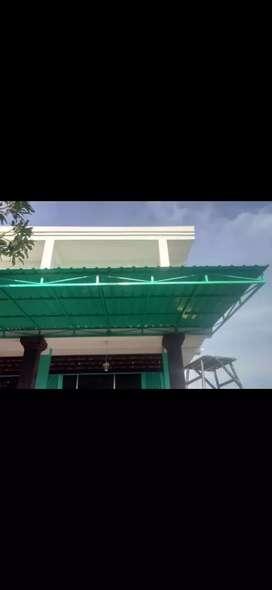 Kanopi atap trimdek rangka hollow galvanis