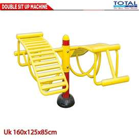 Alat Fitness Double Sit Up Machine Total Fitnes Outdoor - Fitnes Taman