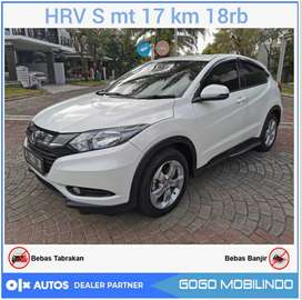 Honda HRV 1.5 S MT 2017 km 18rb antik bs kredit