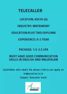 Urgently required experienced tellecaller
