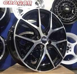 velg racing march ring 15 tipe torey warna black polish