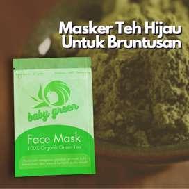 Baby Green Masker | Masker Teh Hijau | Green Tea Masker