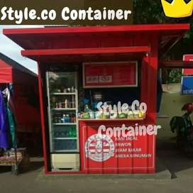 BOOTH SEMI CONTAINER | CONTAINER CAFE KEDAI | CONTAINER RESTORAN