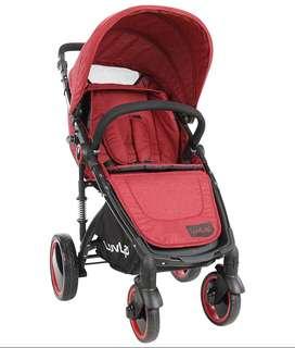 Luvlap Elegant Baby Stroller-RED Box pack unused