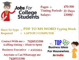 Typing Work At Home (PDF to MS WORD ) -- Greatest Income