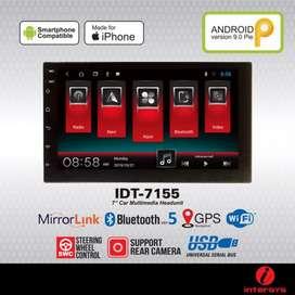 Headunit android 7inch merek Intersys IDT 7155 garansi 1thn ram 1gb